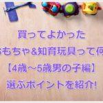 買ってよかったおもちゃ&知育玩具って何?【4歳~5歳男の子編】選ぶポイントを紹介!